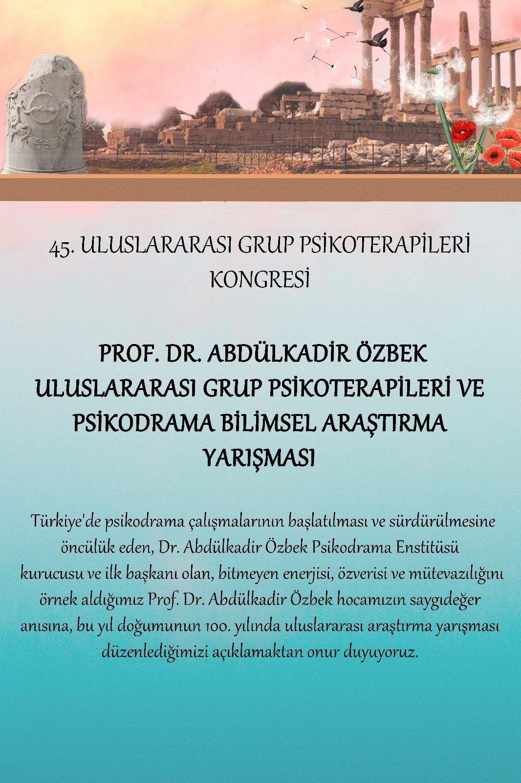 45. Uluslararası Grup Psikoterapileri Kongresi
